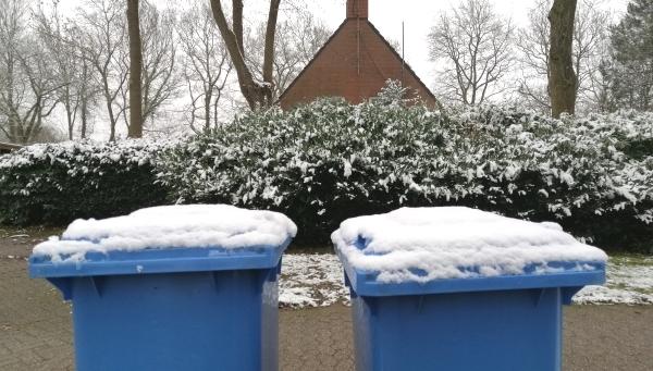 Abfuhr trotz Schnee und Frost